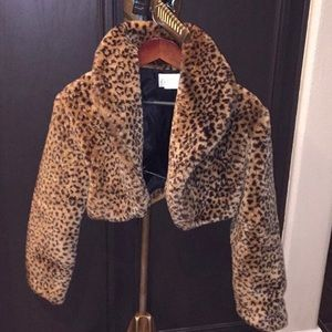 Jackets & Blazers - Cheetah print evening jacket